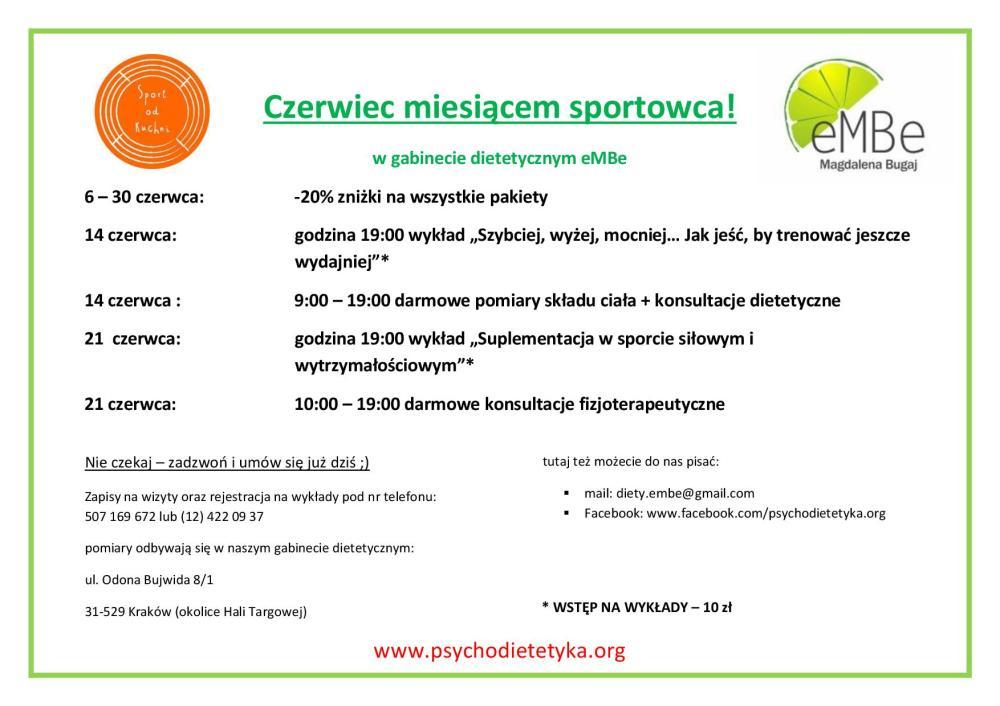 oferta - sportowcy - plakat
